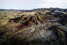 Aerial View Of Painted Hills In Oregon