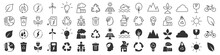 Environment And Eco Excellent Icons Collection In Two Different Styles