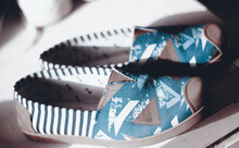 Close Up Of Fabric Shoes