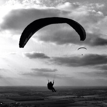 Paraglider Against The Sky