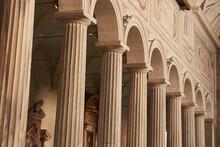 Classic Columns On Church