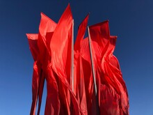 Red Flags On May Celebration In Moscow