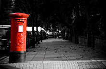 The Iconic Red Mailbox In London.