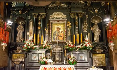 Częstochowa, Poland, Jasna Góra Monastery: the chapel and the Miraculous Image of the Black Madonna Częstochowska (Our Lady of Częstochowa)
