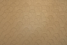 Brown Wallpaper With A Pattern In The Form Of Fish Scales With A Golden Hue.