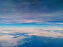 Panoramic View Of Sea From An  Airplane