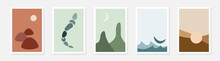Abstract Wall Art Collection. Set Of Minimalistic Posters. Vector Design