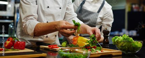 Fototapeta Cooking together obraz
