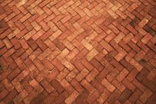 Ancient Dark Orange Red Tone Brick Floor Pavement Stones Luxury Wall Tile Interiors