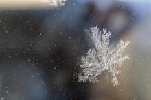 Close-up Of Snowflakes On Snow