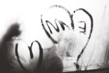 Heart Shape On Condensed Window