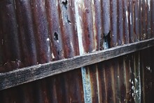 Full Frame Shot Of Rusty Metal Wall