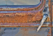 Handle On Old Truck Detail In Sprague, Washington State