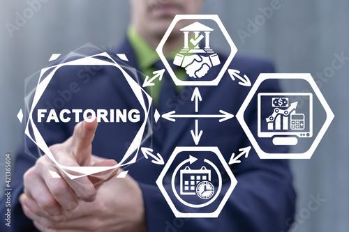 Fotografija Factoring Business Finance Concept