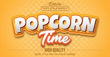 Editable Text Style Effect - Popcorn Time Text Style Theme.