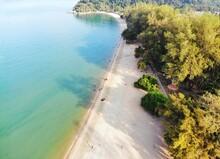 Aerial View Teluk Batik Beach