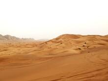 Desert Dunes Of Golden Color