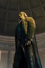 Low Angle View Of Thomas Jefferson Statue