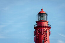 Part Of The Lighthouse On The North Frisian Island Amrum, Germany
