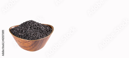 Photo Granulated Activated Carbon for Water Filter - Text Space