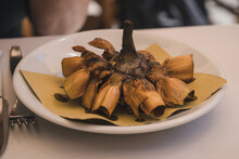 Typical Roman-jewish Fried Artichoke Recipe