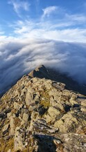 Low Cloud Rolling Over Mountain Too Striding Edge