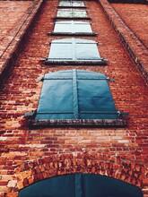 Facade Of An Orange Brick Building In Toronto