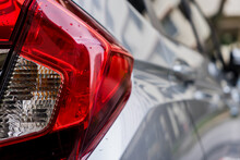 Close-up Of Red Lamp Of The Car
