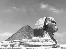Egyptian Sphinx And Pyramid Of Giza
