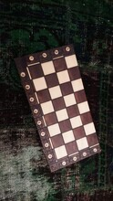 High Angle View Of A Chess Board