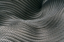 Full Frame Shot Of Abstract Background Made By Metal Cable