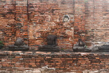 Ruins Of Temple In Ayutthaya Thailand