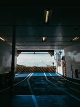 Empty Ferry Boat Parking Lot