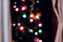 Defocused Christmas Lights At Home