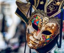 Close-up Of Face Mask Sculpture