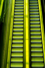 Neon Light On The Escalator