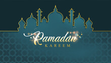 Ramadan Background With Mosque Frame