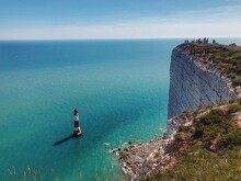 Beachy Head Tourists And Buoy View