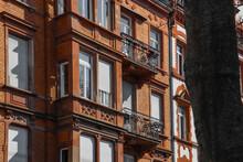 Orange French Brick Building