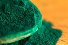 Close Up Of Spirulina Algae Powder
