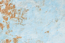 Painted Plaster Wall With Pain Flakes For Background