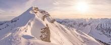 Saharastaub Am Schafreuter - Panoramic View Of Snowcapped Mountains Against Sky