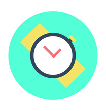 Wristwatch Colored Vector Icon