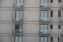 Full Frame Shot Of Building In Cage
