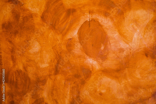 Fototapeta Textured wall brushed painted Background, Abstract Orange Oil Color