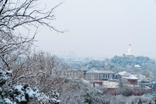 Beijing Beihai Park Winter Snow Scene