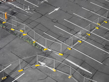 High Angle View Of Parking Space.