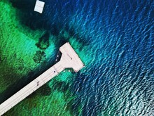 High Angle View Of Blue Water