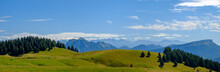 Alpage, Prairie Des Montagnes Dans Les Alpes, Là Où L'on Trouve Les Meilleurs Fromages. Plateau Du Semnoz, Massif Des Bauges