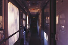 Interior Of Train, Traveling To Baku